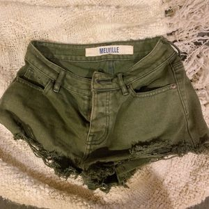 Brandy Melville army green shorts